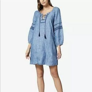 Sanctuary Mirabelle linen embroidered sleeve dress
